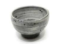 刷毛目大茶碗土裏山藁灰
