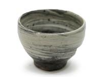刷毛目大茶碗土裏山長石釉