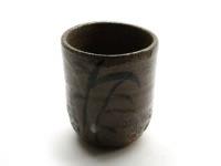小茶杯鉄絵赤土
