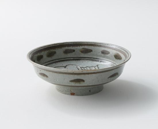 青磁鉄絵魚絵7寸浅鉢